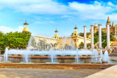 Fountain of Montjuic in Barcelona — Stock Photo