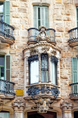 Beautiful urban view of Barcelona — Stock Photo