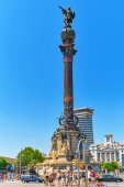 Monument of Columbus in Barcelona — Stock Photo