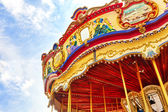 Colorful Carousel on carnival — Stock Photo
