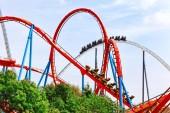 Renkli Roller Coaster — Stok fotoğraf