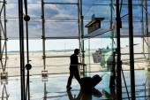 Interior of modern airport — Stock Photo