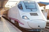 Hi-Speed Train arriving to Railways — Stock Photo