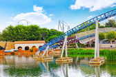 Roller Coaster in park — Stock Photo