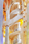 Interior of Sagrada Familia — Stock Photo