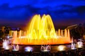 Famous Montjuic Fountain — Stock Photo