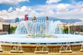 Fountain of Montjuic and Plaza de Espana — Stock Photo