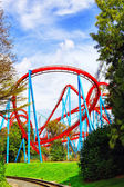 Colorful Roller Coaster — Stock Photo