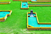 Mini-Golf field in summer day — Stock Photo