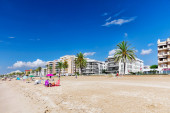 Seafront beach in Spain — Foto Stock