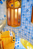 Interior of Gaudi's creation-house — Foto Stock