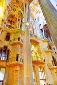 Sagrada Familia interior — Stock Photo