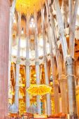 Sagrada Familia interior — Stock Photo