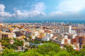 Barcelona city from Montjuic castle — Stock Photo
