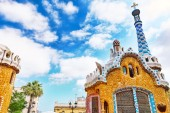 Amazing Park Guel in Barcelona — Stock Photo