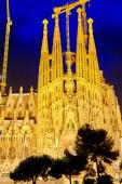 Sagrada Familia at night — Stock Photo