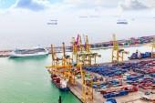 Panorama of Barcelona Seaport — Stock Photo
