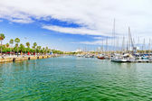 Panorama of Barcelona Seaport — 图库照片