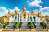 Museo nacional en barcelona — Foto de Stock