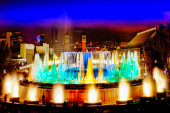 Famous Montjuic Fountain — Stock Photo