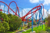Colorful Roller Coaster — Stockfoto