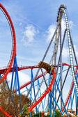 Colorful Roller Coaster — Zdjęcie stockowe