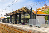 Railways Stations in suburbs — Stock Photo