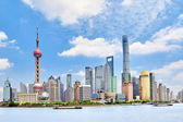 Skyline view on Pudong New Area, Shanghai. — Stock Photo