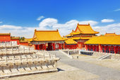 Palaces, pagodas inside the territory of the Forbidden City Muse — Stock Photo