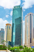 BEIGING, CHINA- MAY, 24: Skyscrapers, city building of Pudong, S — Stock Photo