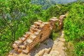 """Not restoration view of Great Wall of China, section """"Mitianyu"""". — Stock Photo"""