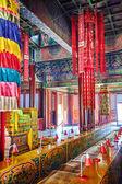 Binnenaanzicht van Yonghegong Lama Tempel. Beijing. — Stockfoto
