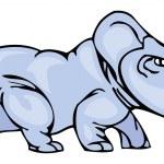 Triceratops Dinosaur Vector Illustration — Stock Vector #56932971