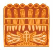 Ornamento egípcio antigo — Vetor de Stock