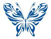 Blue Tribal Butterfly — Vector de stock