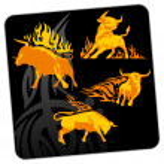 Burning Bull — Stock Vector #57536763