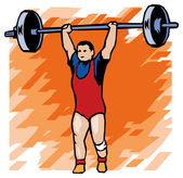 Sportsman with a barbell — Stock Vector