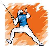 Professional fencer — Vecteur