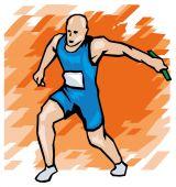Athlete illustration — Stock Vector
