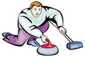 Curling illustration — Vetorial Stock