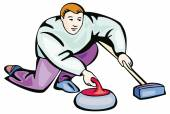 Curling illustration — Stockvector