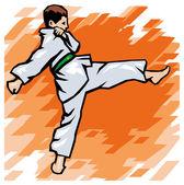 Karate man — Stock Vector