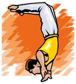 Gymnast illustration — Stock Vector