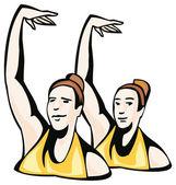 Ballet illustration — Stock Vector