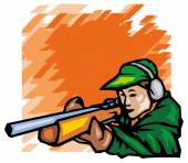 Skeet shooting — Stock Vector