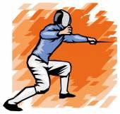 Professional fencer — Wektor stockowy