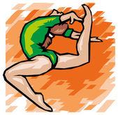 Gymnast woman — Stock Vector
