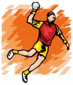 Handball illustration — Stock Vector