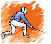Esgrimista profissional — Vetor de Stock