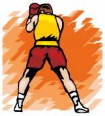 ボクシングのアイコン — ストックベクタ